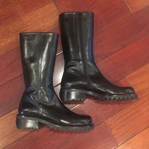 NWT - Black leather Joan & David boots. Never worn